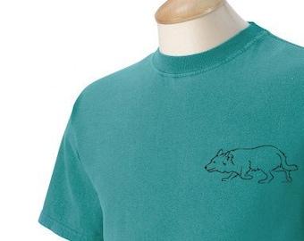 Border Collie Herding Garment Dyed Cotton T-shirt