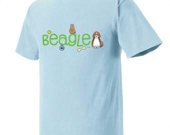 Beagle Doodle Garment Dyed Cotton T-shirt