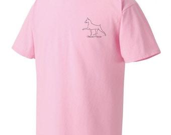 Miniature Pinscher Garment Dyed Cotton T-shirt