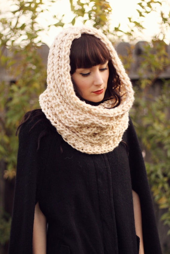 The Pemberly, a Cream Chunky Oversized Cowl/Snood