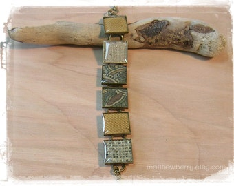 Fabric Swatch Bracelet - Fabric and Resin Jewelry