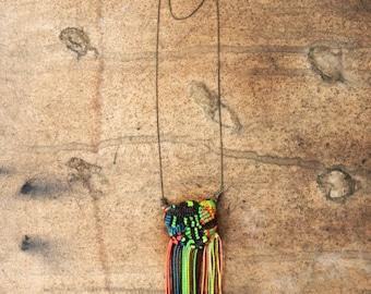 NEON FRINGE Brass Necklace