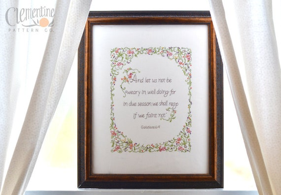 We Shall Reap Sampler - 100% Cotton Embroidery Pattern