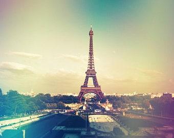 Shabby chic Paris wall art, Eiffel tower urban decor, French home wall art, high quality photo print, Paris, France, gift for traveler