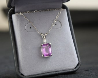 High Class Amethyst and Diamond Necklace