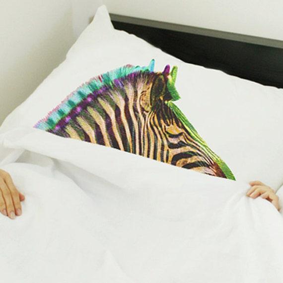 Animal-Mask pillow /zebra, METAMORPHOSIS (sleeping animal pillowcase)