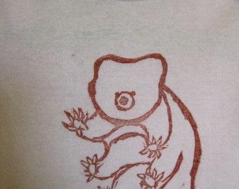 water bear sitting (waving) onesie