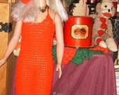 My Size Barbie, Long,Red, Evening, Dress