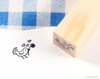 Bird & Love Rubber Stamp