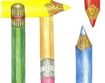 My Pencils Art Print