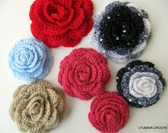 Crochet Rose Flower PATTERN, 3d Flowers DIY Crafts, Crochet Gifts, Easy Crochet Tutorial Instant Download PDF Pattern No.17 Lyubava Crochet
