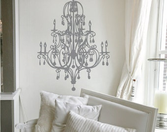 "Delaney Chandelier Wall Decal 22"" x 33"""