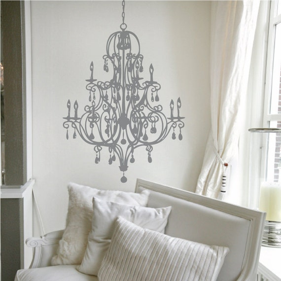 """Delaney Chandelier Wall Decal 22"""" x 33"""""""