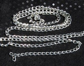 Curb Chain Jewelry Supply Silver Aluminum Chain (3 ft.) 6mm by 4mm links craft supplies jewelry supply unfinished chain