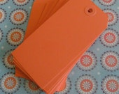 Orange Tags Craft Shipping Large Set of 25