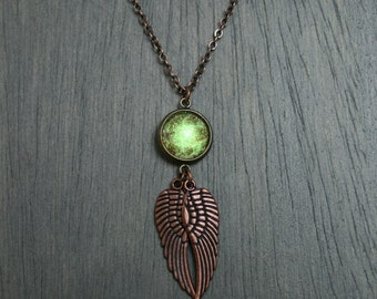 Terra Firma Wings Antique Copper Necklace