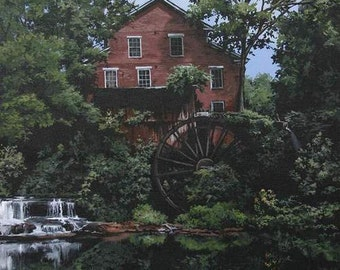 Note cards. Falls Mill - a historical old grist mill -still working in Belvedere, Tn by Artist Cathy Cooksey