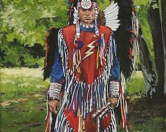Fancy dancer, American Indian art, Cherokee Indian art, Indian Art prints