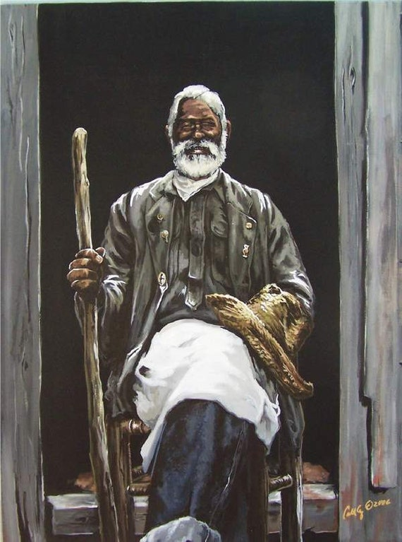 AFRICAN AMERICAN ART PRINT Knowledge Is The Key by WAK | eBay |African Men Art