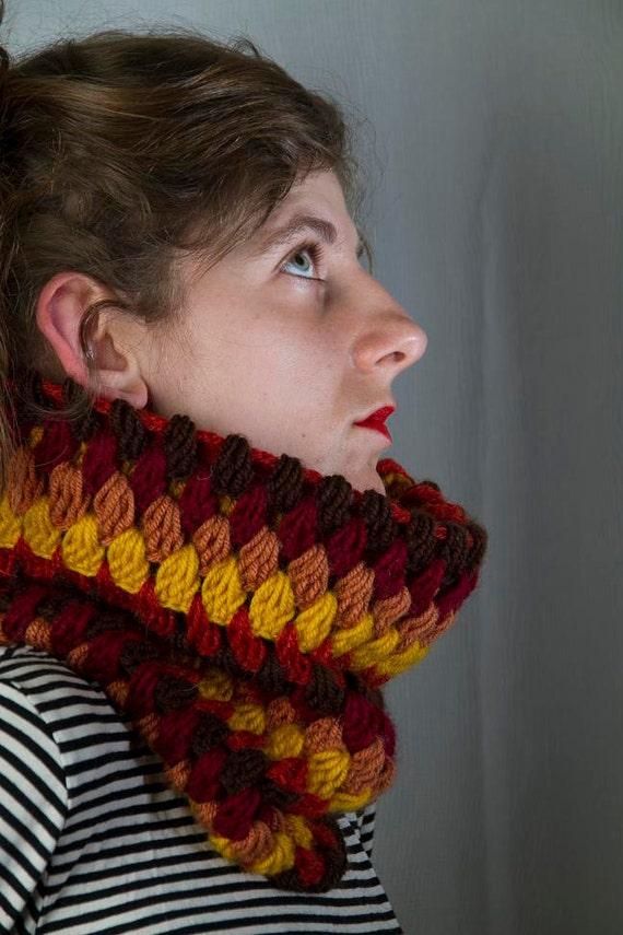 Crocheted Cowl, Chunky Cowl, Colorful Cowl, Vegan Cowl, Crochet Neck Warmer, Crochet Cowl, Chunky Neck Warmer, Colorful Neck Warmer