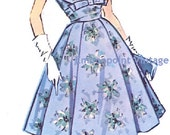 Plus Size (or any size) Vintage 1950s Womens Cocktail Dress Pattern - PDF - Pattern No 15: Kathleen