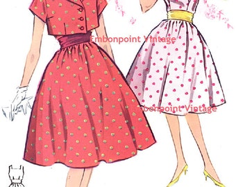 Plus Size (or any size) Vintage 1950s Suit Pattern - PDF - Pattern No 23 24: Margaret