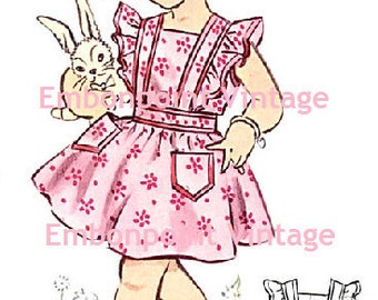 Plus Size (or any size) Vintage 1950s Pinafore Dress Pattern - PDF - Pattern No 135 Gwendolyn
