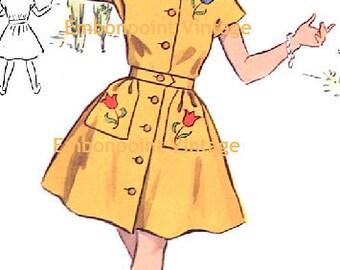 Plus Size (or any size) Vintage 1950s Dress Pattern - PDF - Pattern No 148 Marlene