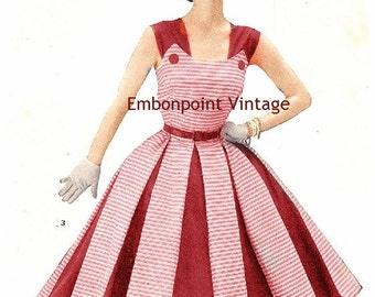 Plus Size (or any size) Vintage 1949 Dress Sewing Pattern - PDF - Pattern No 3 Nora