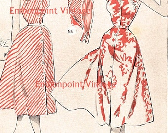 Plus Size (or any size) Vintage 1949 Dress & Bolero Sewing Pattern - PDF - Pattern No 8 9 Velma