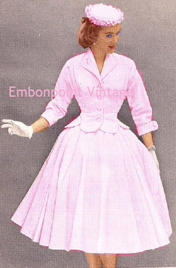 Plus Size (or any size) Vintage 1949 Skirt Suit Sewing Pattern - PDF - Pattern No 73 Maggie