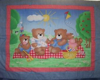 Bear Family Picnic Quilt
