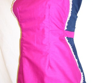 Woo Woo, Bright colored, 40's Vintage style, full dressy apron