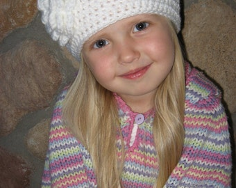 Crochet Hat Pattern - Primrose Crochet Hat Pattern for Girls or Baby - Instant Download