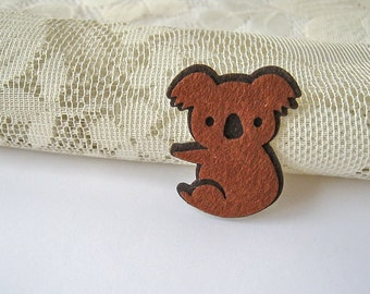 Bear Patches, Applique Iron on Patch Iron on Applique Brown koala, kid, woman gift for her kid bag decoration, shirt felt applique, B18