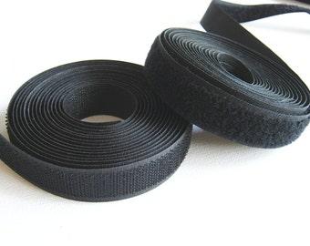 Black Hook and Loop, Black Sew on Velcro Hook and Loop Tape, Velcro hook and loop tape 20mm, 3 Metres, Bag supply