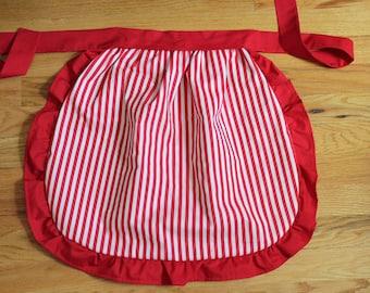 ruffle half apron PDF sewing pattern - reversible - vintage inspired- kitchen DIY