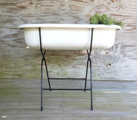 enamel tub / European washtub with stand