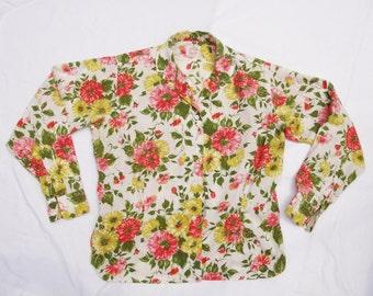 Vintage 1950s Floral Shirt