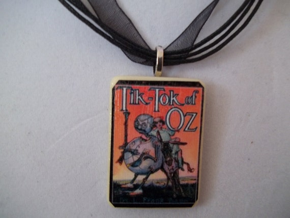 Choice of Wizard of Oz handcrafted Game Piece Necklace on voile necklace with gift bag