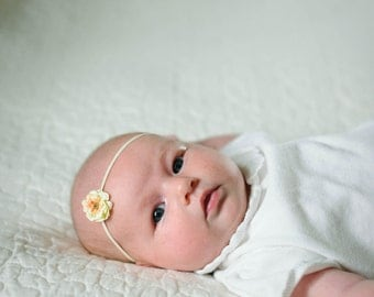 Newborn headband - Cream flower headband - Newborn headband - Baby headband - Photo prop