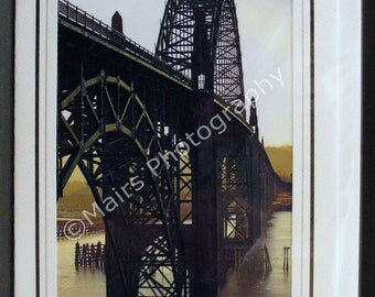 Masculine Bridge Green Arches Steel Fog, Father's Day Card, Birthday, All Occasion, Blank Greeting Card, Photo Card
