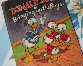 Donald Duck in Bringing Up The Boys 1948- Whitman Publishing Company