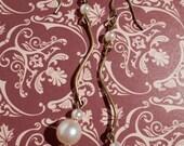 Vintage Bronze Pearl Earrings