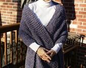 Knit Denim Westport Boucle Shawl Fringe