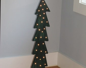 Lighted Wood Christmas Tree, Hand Made, GREAT GIFT
