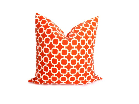 Orange And White Decorative Pillows : Orange Pillow Decorative Pillows Throw Pillow by EastAndNest