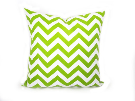 Decorative Pillow Green.Chevron Pillow by EastAndNest on Etsy