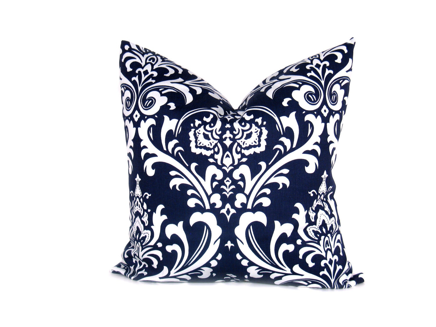 Decorative Pillows In Navy Blue : Decorative Euro Pillow Sham Navy Blue Pillow ONE by EastAndNest