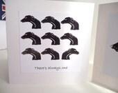 Black Greyhound Multihead Greetings Card